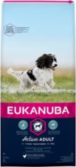 Eukanuba Active Adult Medium Breed - Hondenvoer - Kip 15 kg - Hondenvoer