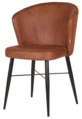 Eetkamerstoel Wave - Easy Clean - Cognac - Industrieel, Landelijk, Vintage & meer stijlen vind je op WoonQ.nl
