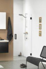 Zwarte Get Wet by Sealskin I AM Draaideur 80x200cm voor nis mat zwart 8mm helder veiligheidsglas met antikalk CK200806195100