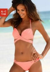 Oranje S.Oliver RED LABEL Beachwear push-upbikini met extra strikbandjes