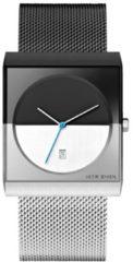 Jacob Jensen 515 Classic Horloge - Jacob Jensen heren horloge - Zwart - diameter 32 mm - kleur gecoat roestvrij staal