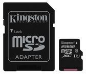 Kingston Technology GmbH Kingston Canvas Select - Flash-Speicherkarte (microSDXC-an-SD-Adapter inbegriffen) SDCS/256GB