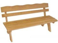 Somultishop Tuinbank 3-zits 150cm, grenenhout geïmpregneerd massieve, lichtbruin