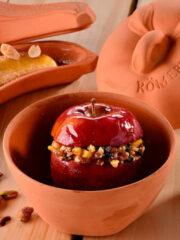Appelbrader, Ø 14 cm, inhoud 0,5 liter Römertopf terracotta