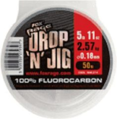 Transparante Fox Rage Drop 'n' Jig Fluorocarbon - Onderlijnmateriaal - 0.25mm - 4.25kg