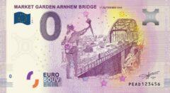 Paarse 0 Euro Biljet 2019 - Market Garden Arnhem Bridge