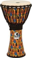 Toca SFDJ-10K Synergy Freestyle Djembe Rope Kente Cloth djembé