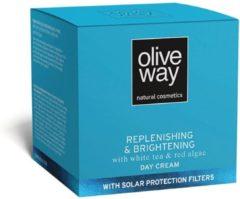 Oliveway Anti-spot dagcrème, UV-bescherming met sinasappel, zoethout, witte thee en rode algen extracten 50ml