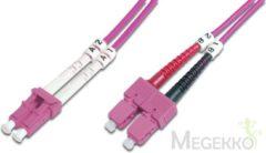 ASSMANN Electronic LC to SC, Multimode, OM4, 50/125 µ, Duplex, 2m (DK-2532-02-4)