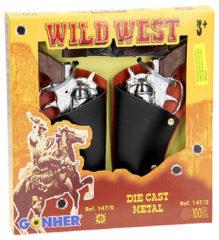 Zilveren Gonher Speelset Cowboy 5 delig 2 Revolvers