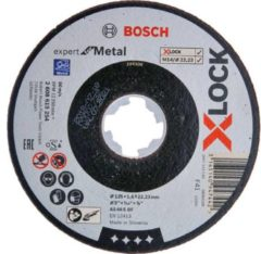 Bosch Accessoires X-LOCK Slijpschijf Expert for Metal 125x1.6x22.23mm, recht - 25 stuk(s)