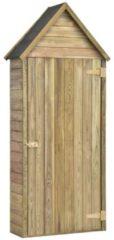 Bruine VidaXL Tuinschuur met deur 77x37x178 cm geïmpregneerd grenenhout