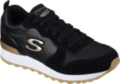 Zwarte Skechers Sneakers Dames RETROS-OG 85-GOLDN GURL-111-Maat 36-Black - Maat 36
