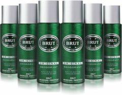 Brut deospray original 200 ml - voordeelverpakking - 6 stuks