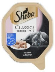 Sheba Classics Pate - Zalm - Aluminium Kuipjes - Katten natvoer - 22 x 85 g