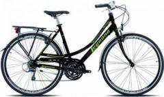 28 Zoll Legnano Ventimiglia Damen Trekking Fahrrad Aluminium... schwarz-grün, 52cm