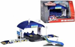 Majorette Creatix Airport Hangar met verplaatsbaar platform en een gate + 1 vliegtuig