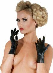 Late X LateX – Latex Korte Handschoenen met Strakke Pasvorm Perfecte Accessoire voor Fetish Outfit Maat M – Zwart