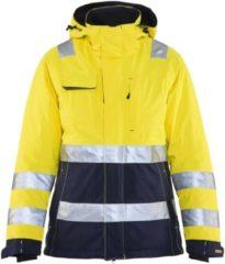 Blåkläder 4872-1987 Dames Winterjas High Vis Geel/Marineblauw maat XL
