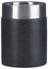 Tandenborstelhouder Sapho Stone Vrijstaand 10.5x7.5 cm Polyresin Zwart