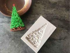 Grijze Ardran & Tookar Fondant Kerstboom met pakjes Mal - Siliconen Kerst versiering vorm - Fondant / Marsepein / Chocolade / Zeep - Voor Kerstmis decoratie van taart, cupcakes en cake