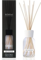 Witte Millefiori Milano Natural geurstokjes White Mint & Tonka 100 ml