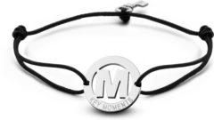 Zilveren Key Moments 8KM-A00013 - Armband met stalen letter M en sleutel - one-size - zilverkleurig