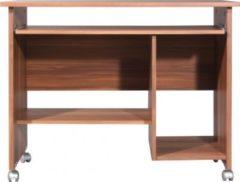 Dynamic24 Schreibtisch Computertisch PC Tisch Arbeitstisch Bürotisch Büro Möbel Walnuss