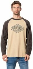 Kaki Rip Curl Retro Diamond Long Sleeve T-Shirt groen