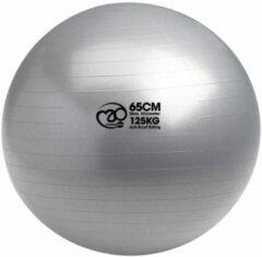 MADFitness - Balansbal en pomp - PVC - max 125 kg belastbaar- Diameter 65 cm- Grijs