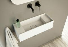 SSI Design Solid Blinc 55 wastafel 55x22x15cm mat wit