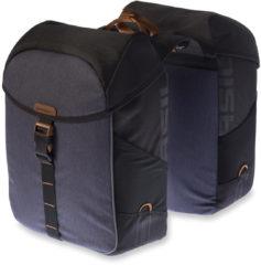 Zwarte Basily Basil Miles Double bag - Dubbele fietstas - 32l - Zwart slate