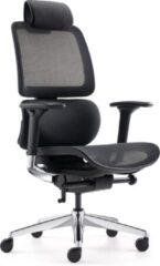 """Blauwe BenS 839DH-Synchro-3 Luxe ergonomische bureaustoel ( ook geschikt voor langere personen) met een Synchro mechaniek, een in hoogte verstelbare (rug) lende steun, """"zwevende"""" zitting en hoofdsteun. Voldoet aan EN1335 en Arbo normen"""