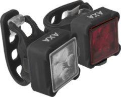 Zwarte AXA Niteline 44 Fietsverlichtingsset - Batterij - LED