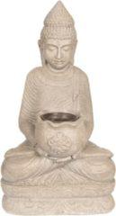 Decoratie Buddha | 28*20*50 cm | Grijs | Kunststof | Clayre & Eef | 5PR0055