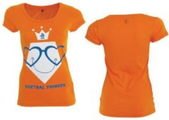 Oranje KNVB - Nederlands Elftal - Leeuwinnen T-shirt Dames Voetbal Prinses Blanco-L