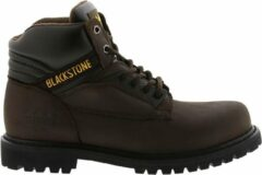 Bruine Blackstone schoen 929/928 6 oil nubuck choco - Maat 43