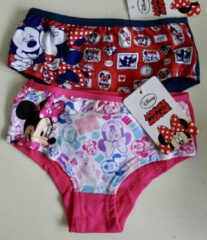 Blauwe Disney Set van 2 Minnie Mouse hipsters maat 116/128