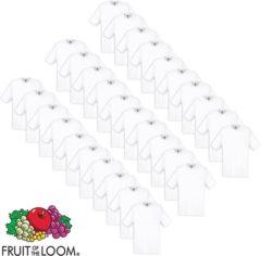 Witte Fruit of the Loom Origineel T-shirt katoen wit 30 stuks XL