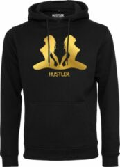 Merchcode Hustler gold hoody in kleur zwart maat XXL