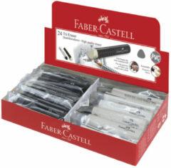 Grijze Faber-Castell Gum FC driekantig zwart/ - wit