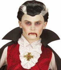 Grijze WIDMANN - Tweekleurige vampierspruik voor kinderen - Pruiken