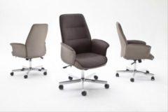 Bürostuhl Stoff grau-braun/ Kunstleder creme MCA-Furniture Jaron