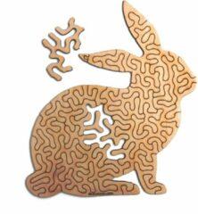 Kaboomlaser Konijn | Houten Puzzel | Entropy serie | 47 stukjes