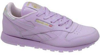 Afbeelding van Paarse Reebok Classic Leather BD5543, kinderen, violet, sneakers maat: 34,5 EU