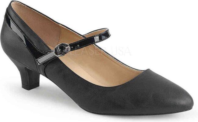 Afbeelding van Pleaser Pink Label Pumps -46 Shoes- FAB-425 Paaldans schoenen Zwart