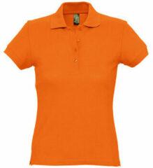 Oranje Polo Shirt Korte Mouw Sols PASSION WOMEN COLORS