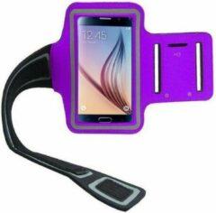 Elemental GOods Handige Mobielhouder Arm Voor Hardlopen - Paars - Joggen - Rennen - Telefoonhouder - Muziek - Armband - Sportarmband - Trainen - Fitness