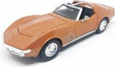 Chevrolet Corvette 1970 (Bronze) (22cm) 1/24 Maisto - Modelauto - Model auto - Schaalmodel - Miniatuurauto - Miniatuur voertuig