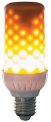 LED Energielabel A++ (A++ - E) E27 Staaf 4 W Warmwit (Ã x l) 52 mm x 130 mm incl. vlameffect 1 stuks